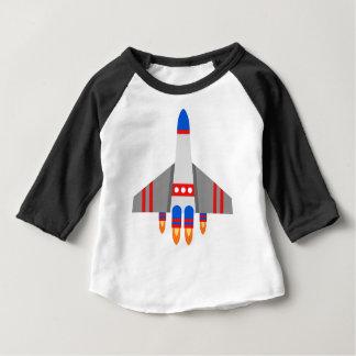 Camiseta Para Bebê Navio de espaço
