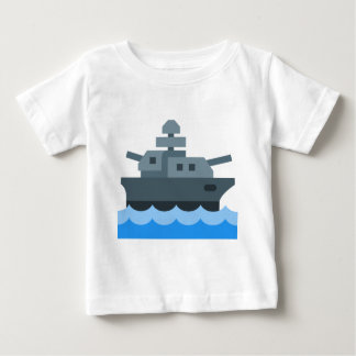Camiseta Para Bebê Navio de guerra