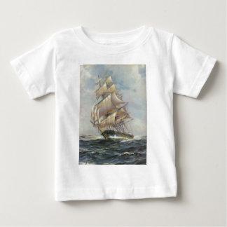 Camiseta Para Bebê Navio de navigação antigo