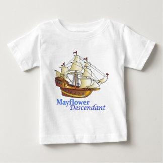 Camiseta Para Bebê Navio de navigação do descendente de Mayflower