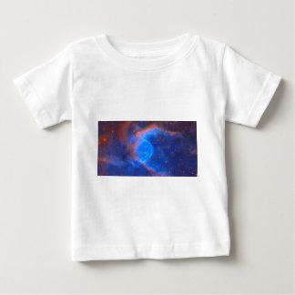 Camiseta Para Bebê Nebulosa galáctica abstrata com nuvem cósmica 10