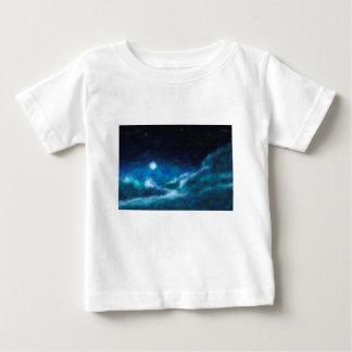 Camiseta Para Bebê Nebulosa galáctica abstrata com nuvem cósmica 14