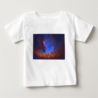 Camiseta Para Bebê Nebulosa galáctica abstrata com nuvem cósmica 2