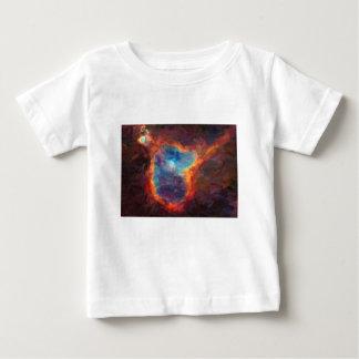 Camiseta Para Bebê Nebulosa galáctica abstrata com nuvem cósmica 4