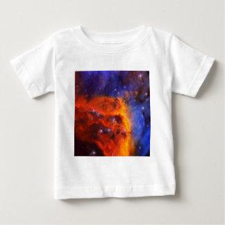 Camiseta Para Bebê Nebulosa galáctica abstrata com nuvem cósmica 5