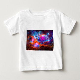 Camiseta Para Bebê Nebulosa galáctica abstrata com nuvem cósmica 7