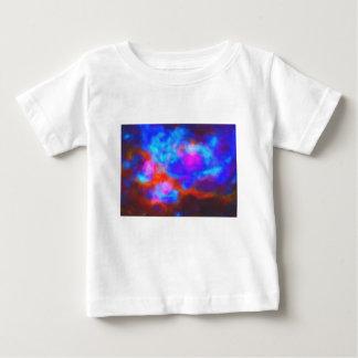 Camiseta Para Bebê Nebulosa galáctica abstrata com nuvem cósmica 7a