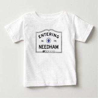 Camiseta Para Bebê Needham entrando