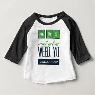 Camiseta Para Bebê nenhum bro, não é não obter seriamente nenhuma