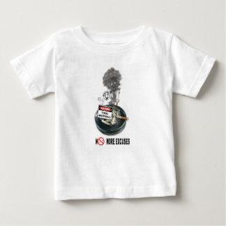 Camiseta Para Bebê NENHUM fumo da parada das DESCULPAS