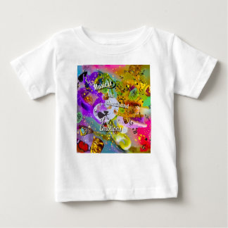Camiseta Para Bebê Nenhuma necessidade de falar entre notas musicais