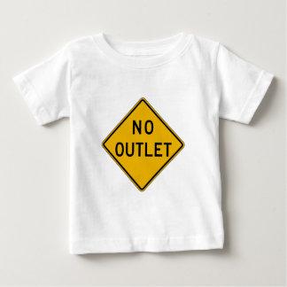 Camiseta Para Bebê Nenhuma tomada, sinal de aviso do tráfego, EUA