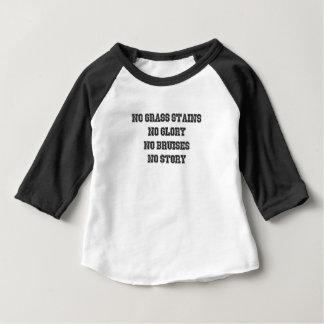 Camiseta Para Bebê Nenhumas manchas da grama, nenhuma glória,