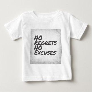 Camiseta Para Bebê Nenhuns pesares