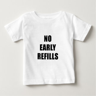 Camiseta Para Bebê Nenhuns reenchimentos adiantados