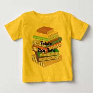 Camiseta Para Bebê Nerd do livro