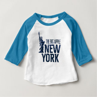 Camiseta Para Bebê New York   Apple grande