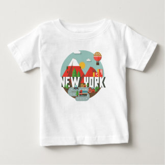 Camiseta Para Bebê New York no design