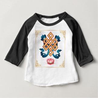 Camiseta Para Bebê Nó infinito do símbolo da religião do Mongolian