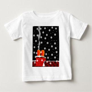 Camiseta Para Bebê No telhado