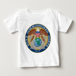 Camiseta Para Bebê NOAA comissão o selo do corpo