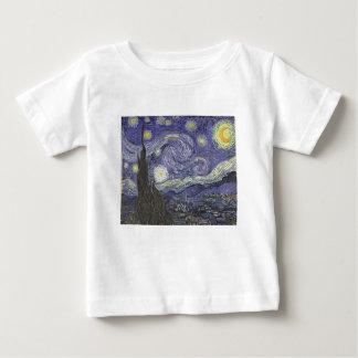 Camiseta Para Bebê Noite estrelado