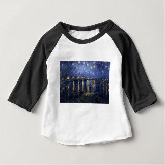 Camiseta Para Bebê Noite estrelado sobre o Rhône