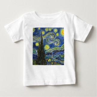 Camiseta Para Bebê Noite estrelado, Van Gogh