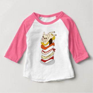 Camiseta Para Bebê Noite japonesa do sushi para o buldogue francês