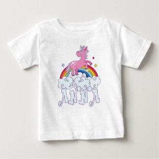 Camiseta Para Bebê Nome do unicórnio de Anna