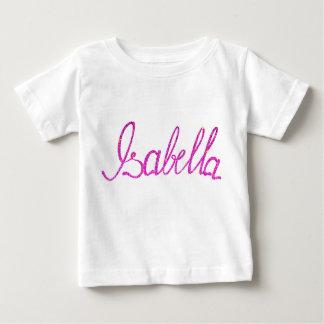 Camiseta Para Bebê Nome fino de Isabella do t-shirt do jérsei do bebê