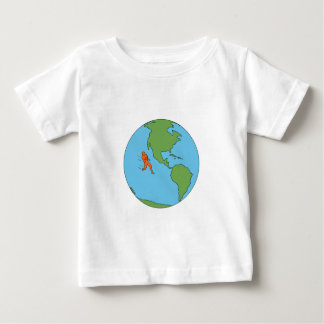 Camiseta Para Bebê Norte Running do corredor de maratona e Dr. de