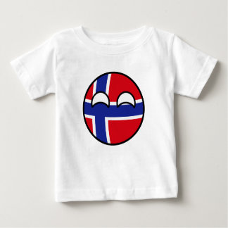 Camiseta Para Bebê Noruega Geeky de tensão engraçada Countryball