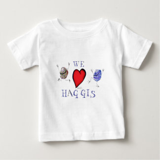 Camiseta Para Bebê nós amamos haggis