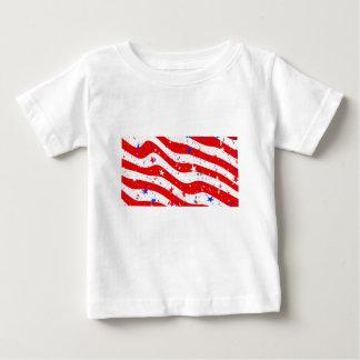 Camiseta Para Bebê Nós bandeira americana da bandeira de América da