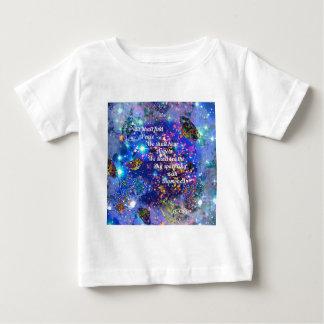 Camiseta Para Bebê Nós encontraremos a paz e ouviremos os anjos