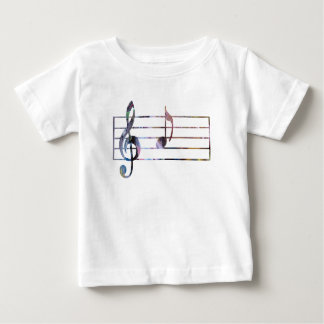 Camiseta Para Bebê Nota musical