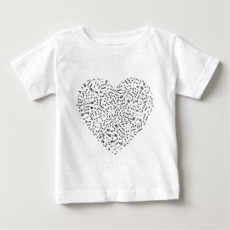 Camiseta Para Bebê Notas da música