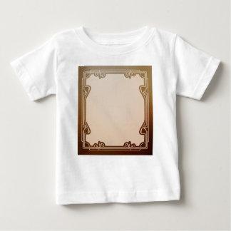 Camiseta Para Bebê nouveau da arte, bege, marrom, antiguidade, époque