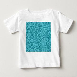 Camiseta Para Bebê nouveau da arte, cerceta, verde, art deco,