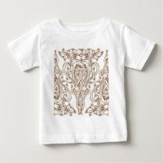 Camiseta Para Bebê nouveau da arte, ouro, branco, vintage, teste