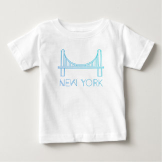 Camiseta Para Bebê Nova Iorque da ponte de Brooklyn |