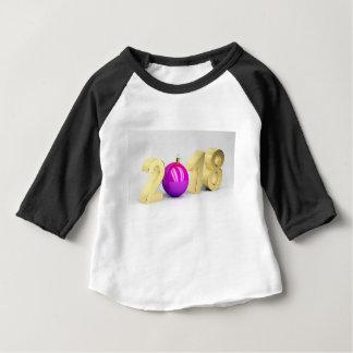 Camiseta Para Bebê Número 2018 com bola do Natal