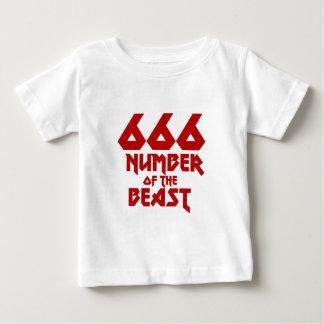 Camiseta Para Bebê Número do animal