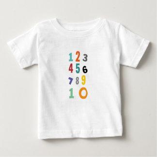 Camiseta Para Bebê Número, número do berçário
