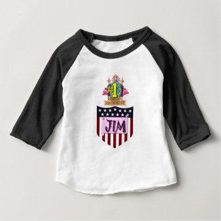 Camiseta Para Bebê Número um Jim