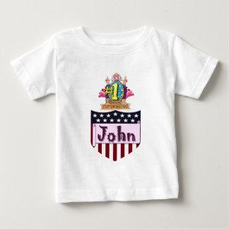 Camiseta Para Bebê Número um John