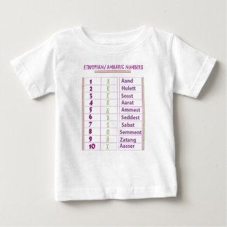 Camiseta Para Bebê Números etíopes/Amharic