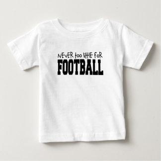 Camiseta Para Bebê Nunca demasiado pouco para o futebol