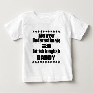 Camiseta Para Bebê Nunca subestime o pai Longhair britânico
